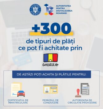 Peste 300 de tipuri de plăți pot fi achitate online prin Ghișeul.ro