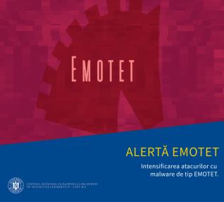 Intensificarea atacurilor care răspândesc malware-ul EMOTET
