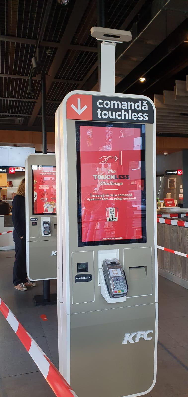 KFC Romania introduce un sistem touchless de comandă