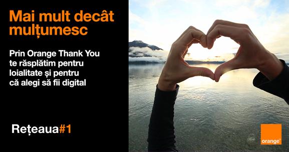 Mai multe beneficii pentru clienții digitali, prin programul Orange Thank You