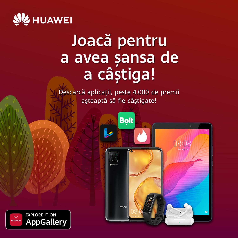 Campania de toamnă Festival of Apps, disponibilă într-o nouă etapă pentru utilizatorii HUAWEI AppGallery