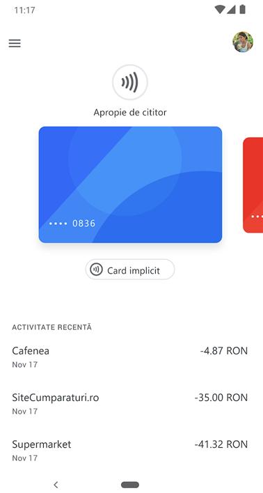 Google Pay prin aplicațiile partenerilor