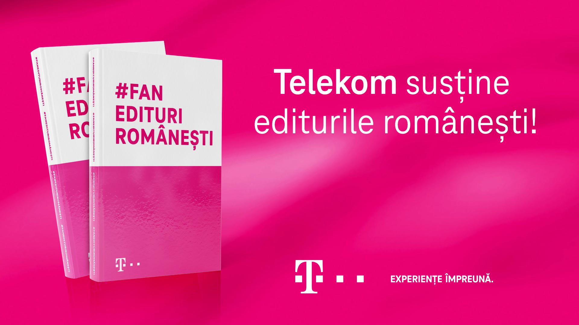 Telekom Romania susține editurile autohtone și încurajează lectura