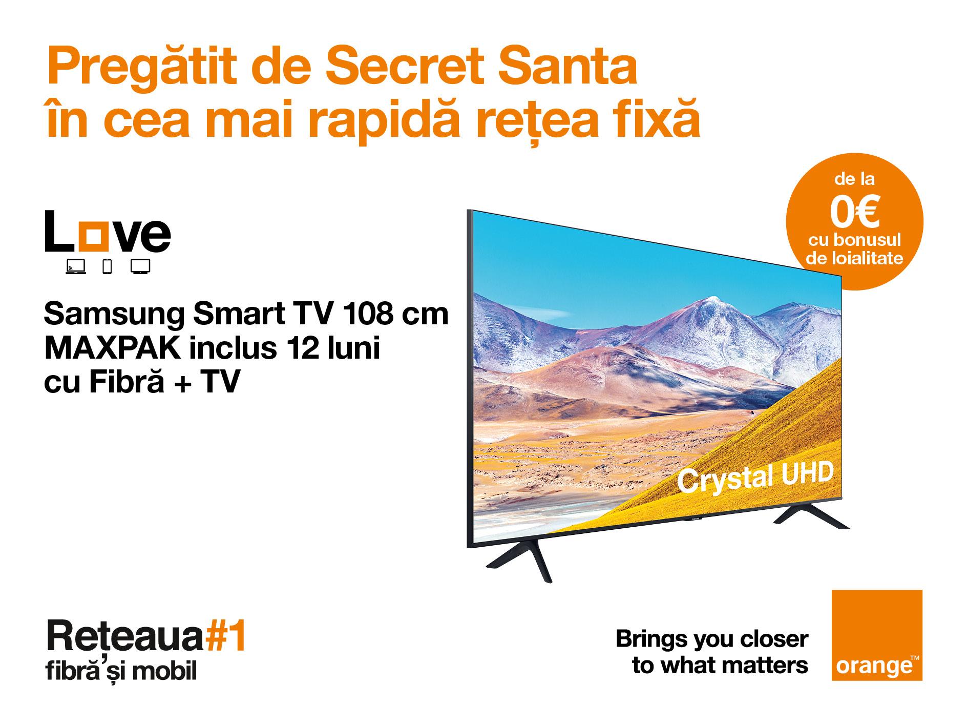 Cu pachetele fix-mobil, clienții Orange se bucură de Smart TV de la 0 € și 12 luni de cea mai bună colecție de filme