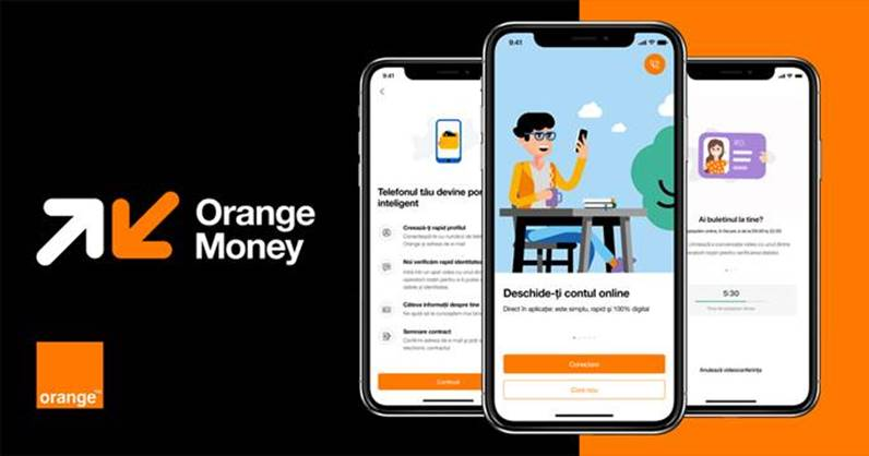 Cont Orange Money în 10 minute pentru clienții Orange, prin înrolare 100% digitală