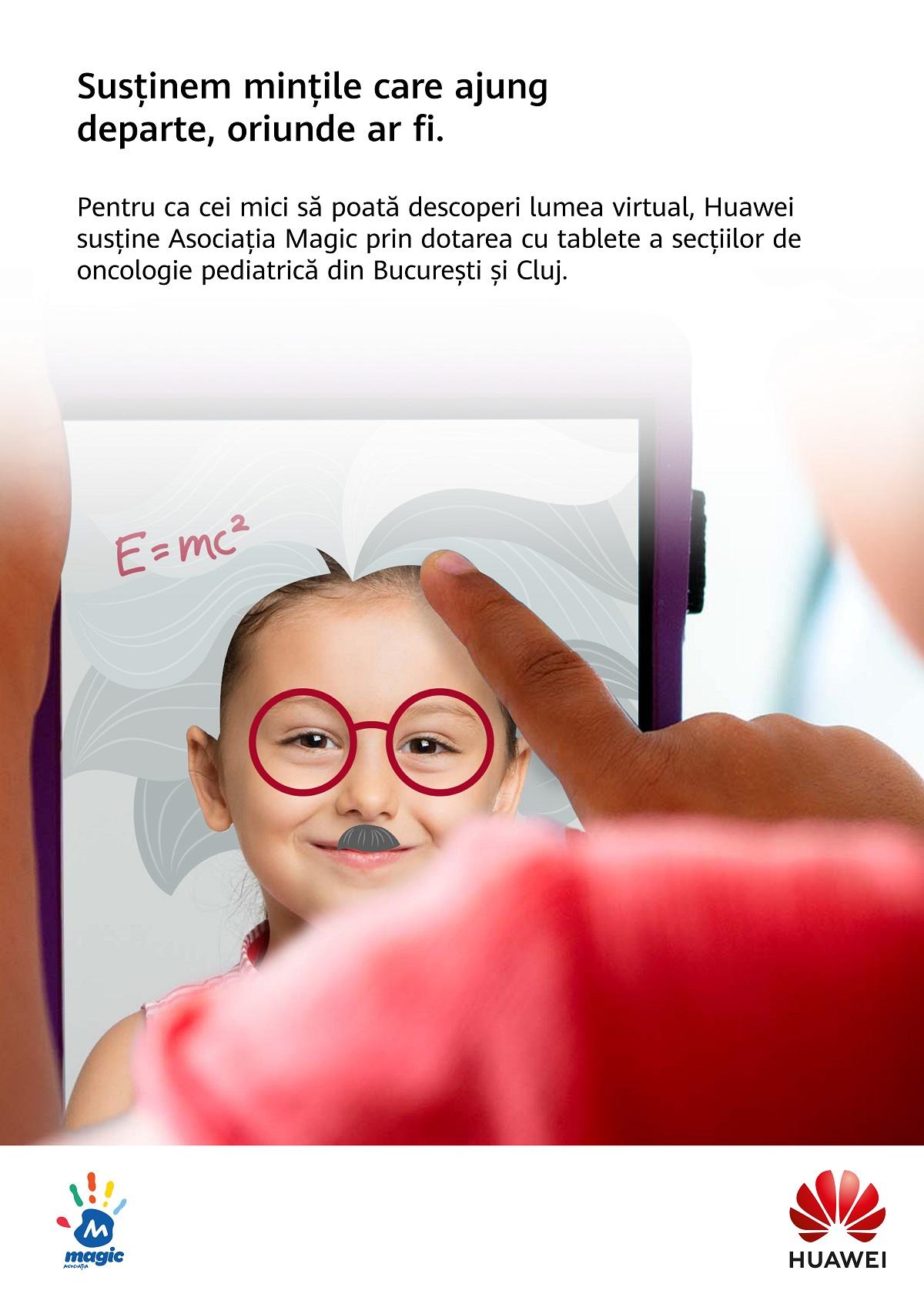 Huawei susține Asociația Magic prin echiparea cu tablete a secțiilor de oncologie pediatrică