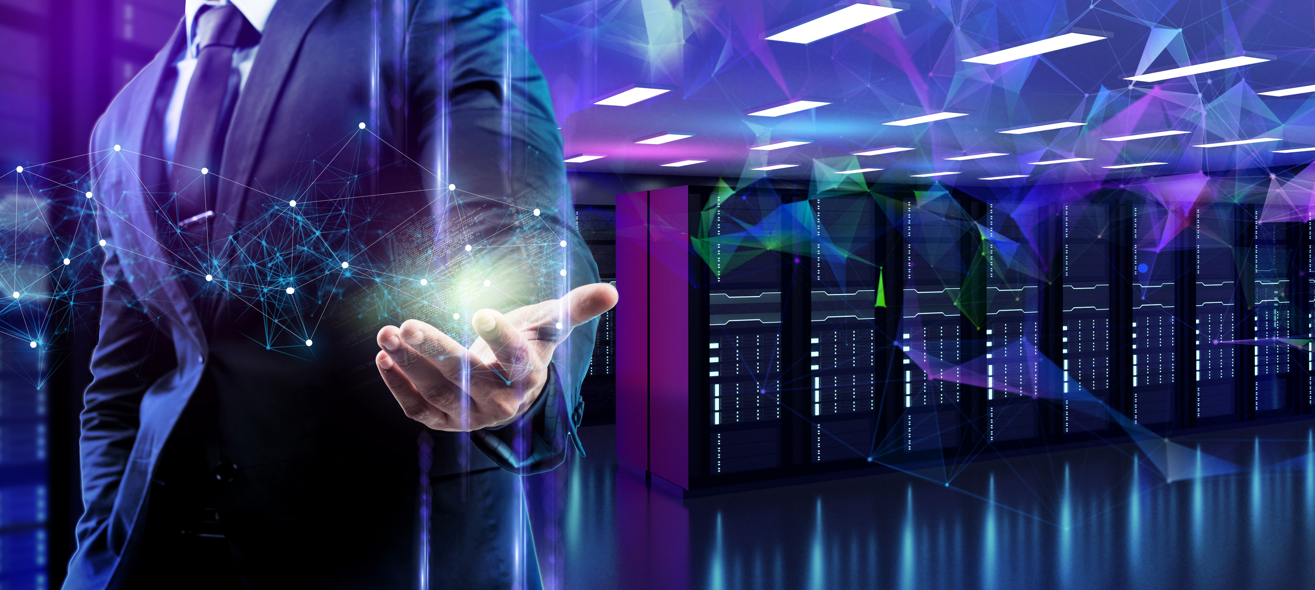 Cloud data, big data, internet of thing IOT technology, business finance and server data center AI artificial intelligence futuristic background, digital cyber online link future smart technology.