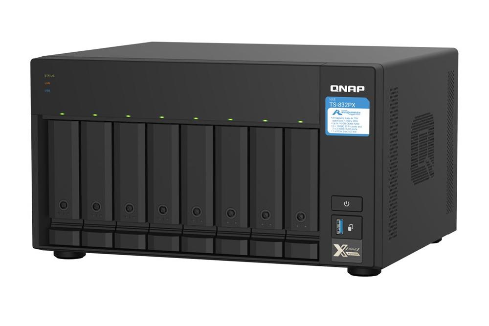 Serverul QNAP NAS TS-832PX cu SFP+ 10GbE oferă performanță și conectivitate