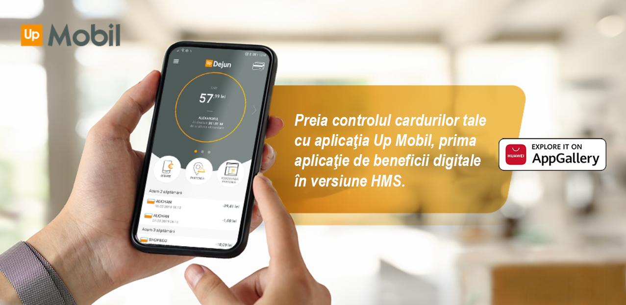 Up Mobil devine prima aplicație de beneficii digitale cu versiune dedicată pentru utilizatorii Huawei
