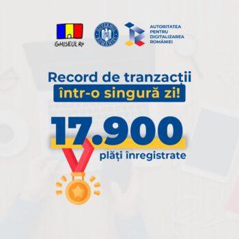 17.900 de plăți realizate pe Ghișeul.ro într-o zi
