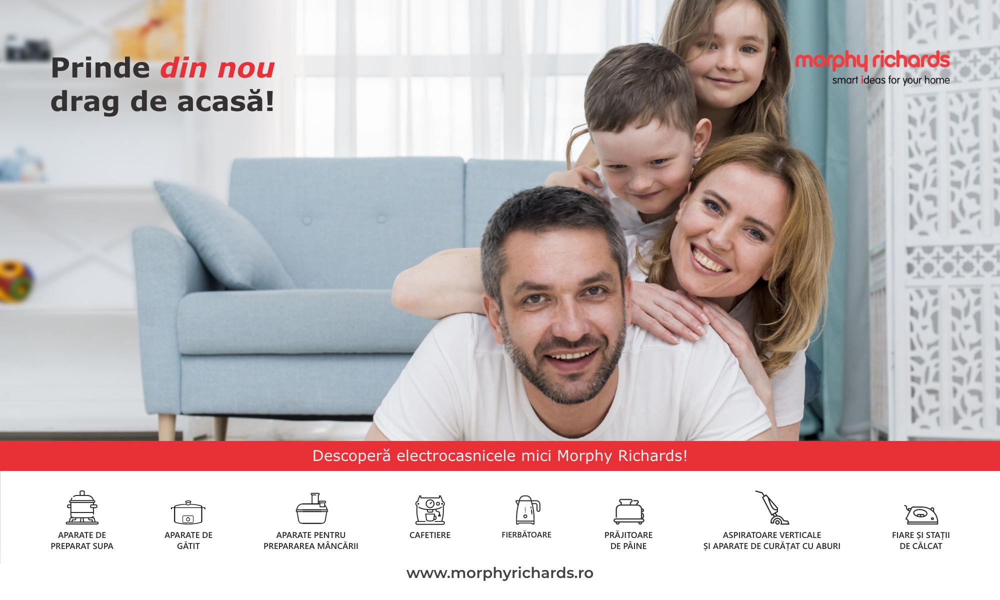 Morphy Richards se lansează în România cu o gamă largă de electrocasnice pentru casă și bucătărie
