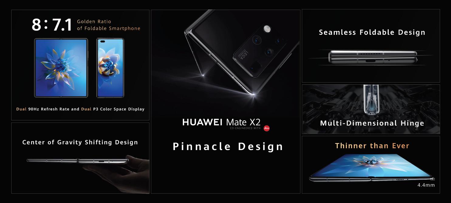 Noul HUAWEI Mate X2, cel de-al treilea dispozitiv cu ecran pliabil din portofoliul Huawei