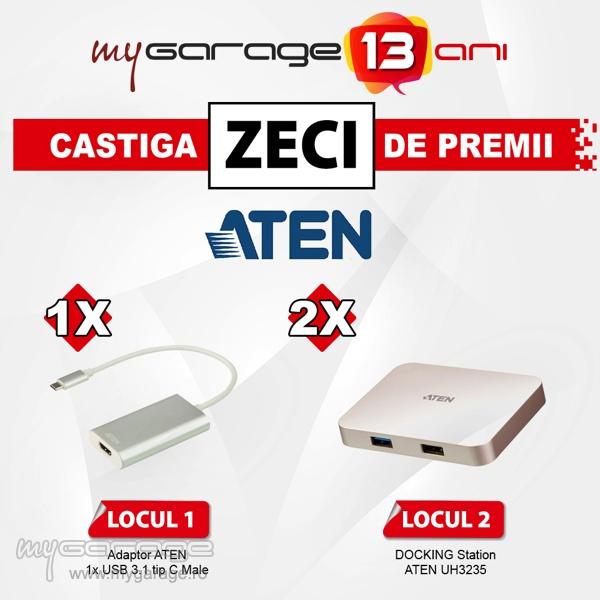 Soluția de andocare 4K și Dispozitivul de captură video UVC de la ATEN – oferite ca premii în comunitatea MyGarage