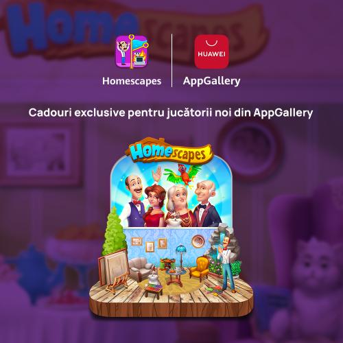 Jocul Homescapes, disponibil în magazinul virtual HUAWEI AppGallery