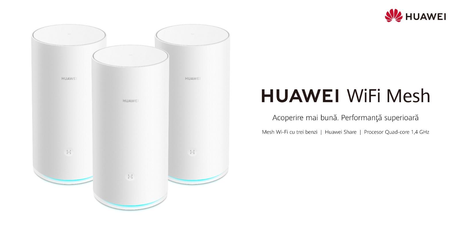Huawei WiFi Mesh: Conexiuni WiFi rapide și stabile în fiecare colț al casei