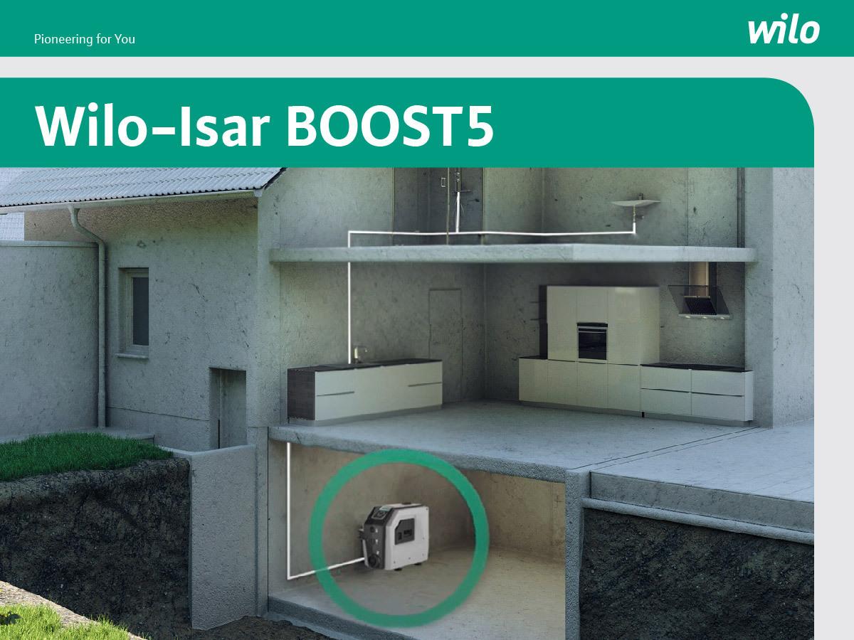 Wilo Isar-BOOST5, soluția eficientă și modernă pentru presiunea optimă a apei