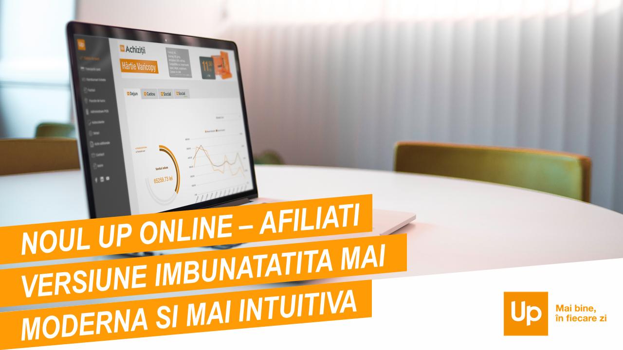 Up România face un upgrade al platformei Up Online pentru partenerii comerciali afiliați