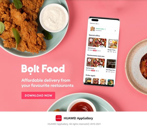 Bolt are parte de un început excelent pe AppGallery și lansează Bolt Food