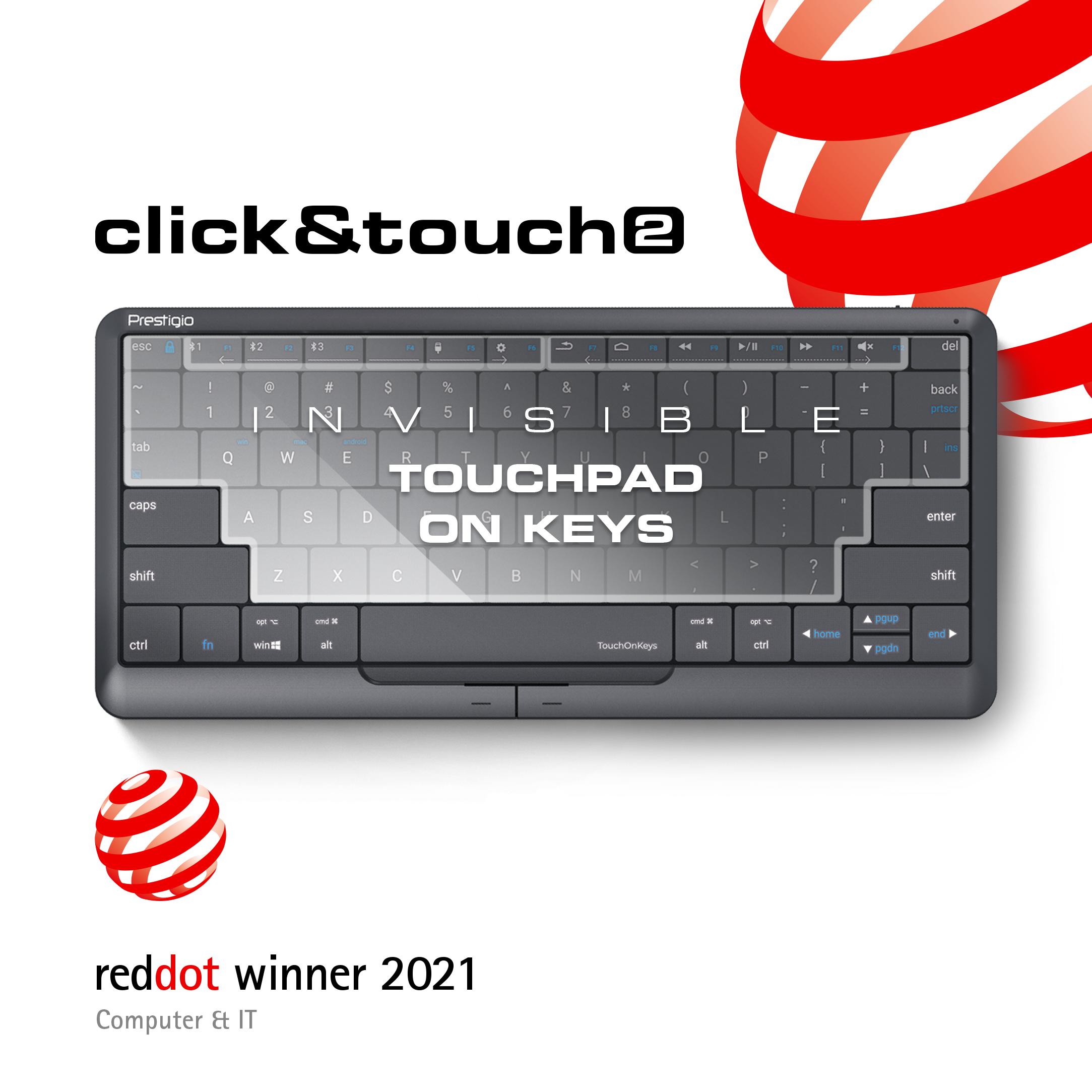 Prestigio Click&Touch 2, tastatura inteligentă premiată cu Red Dot Award Product Design 2021