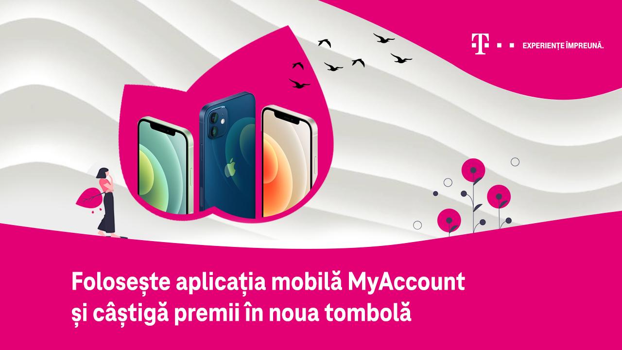Premii de mii de euro pentru utilizatorii aplicației mobile MyAccount