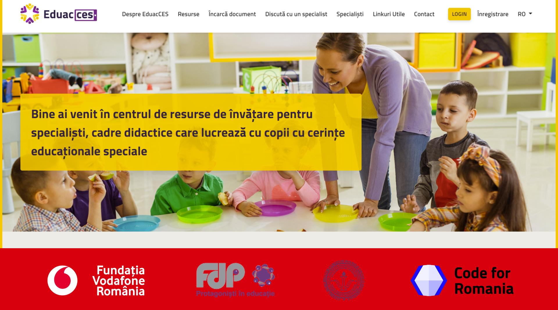 Platforma Eduacces.ro sprijină integrarea elevilor cu cerințe educationale speciale în școlile de masă