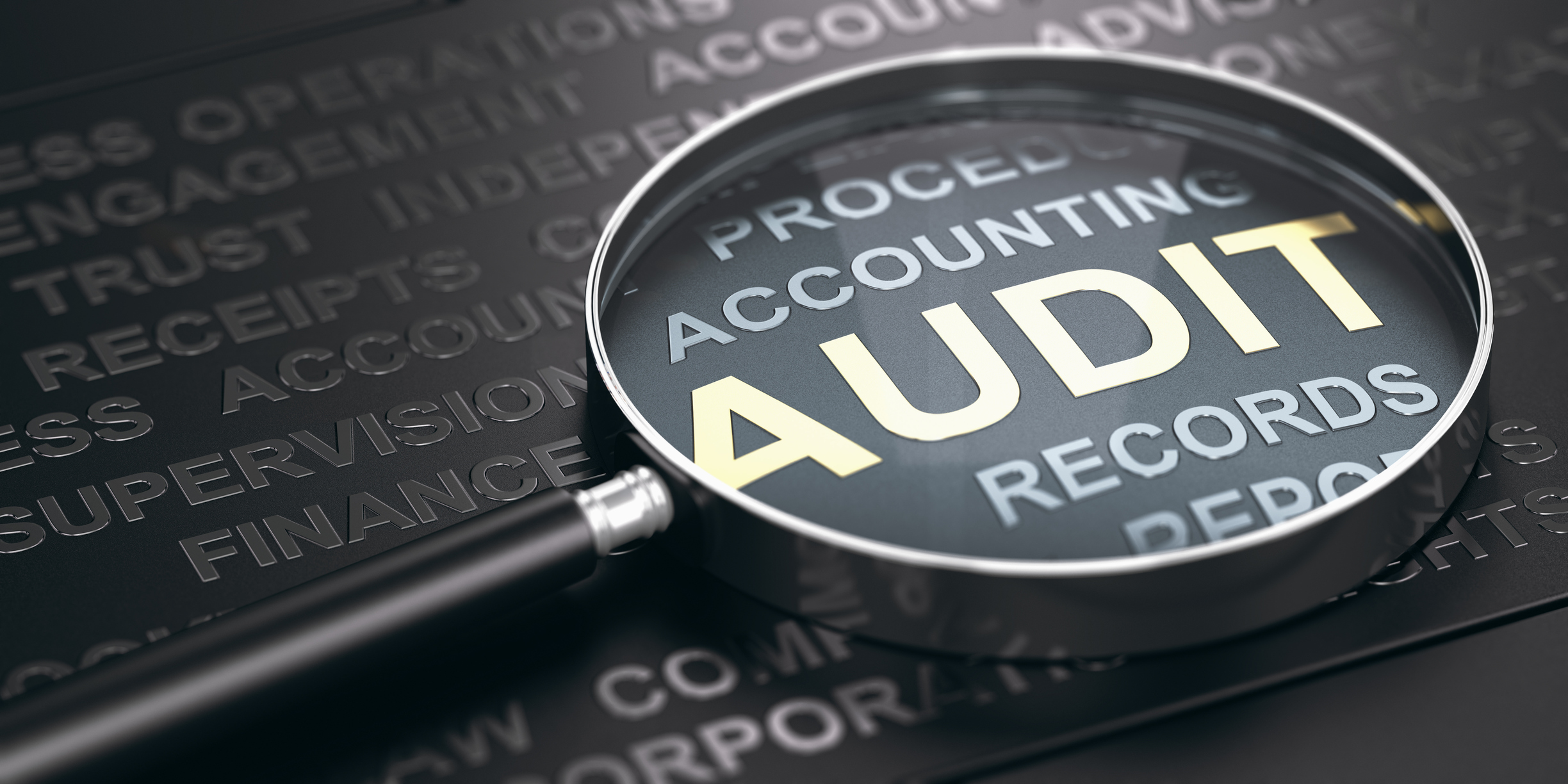 Financial Auditing Concept.
