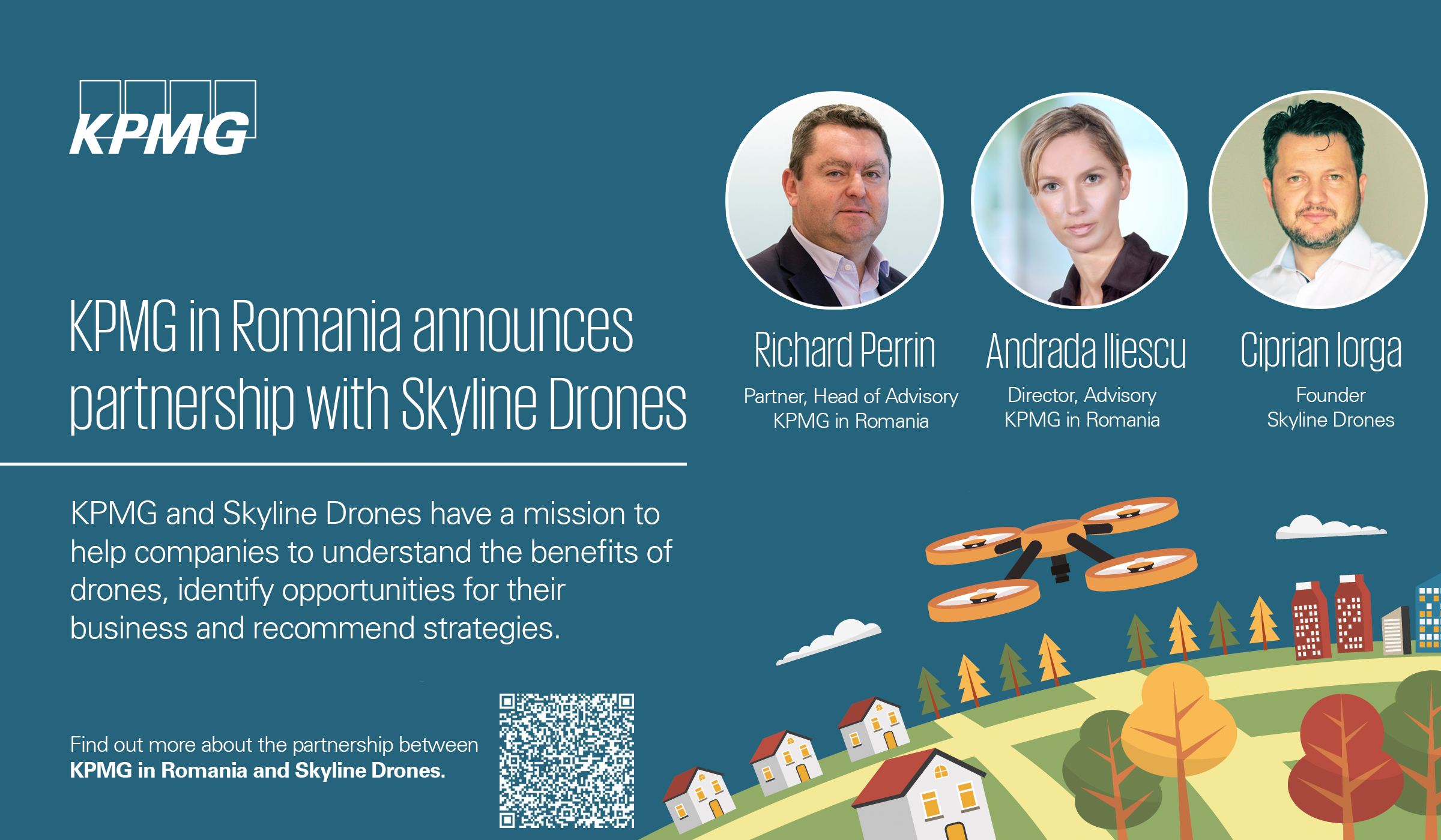 KPMG a încheiat un parteneriat cu Skyline Drones