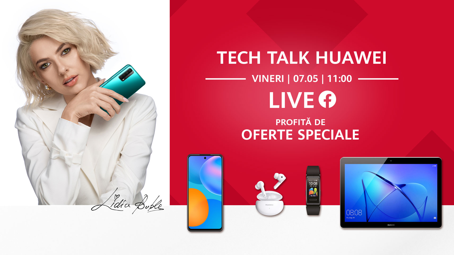 Huawei Live Tech Talk: o serie de live streaming-uri inedite care aduc premii, discount-uri și invitați surpriză
