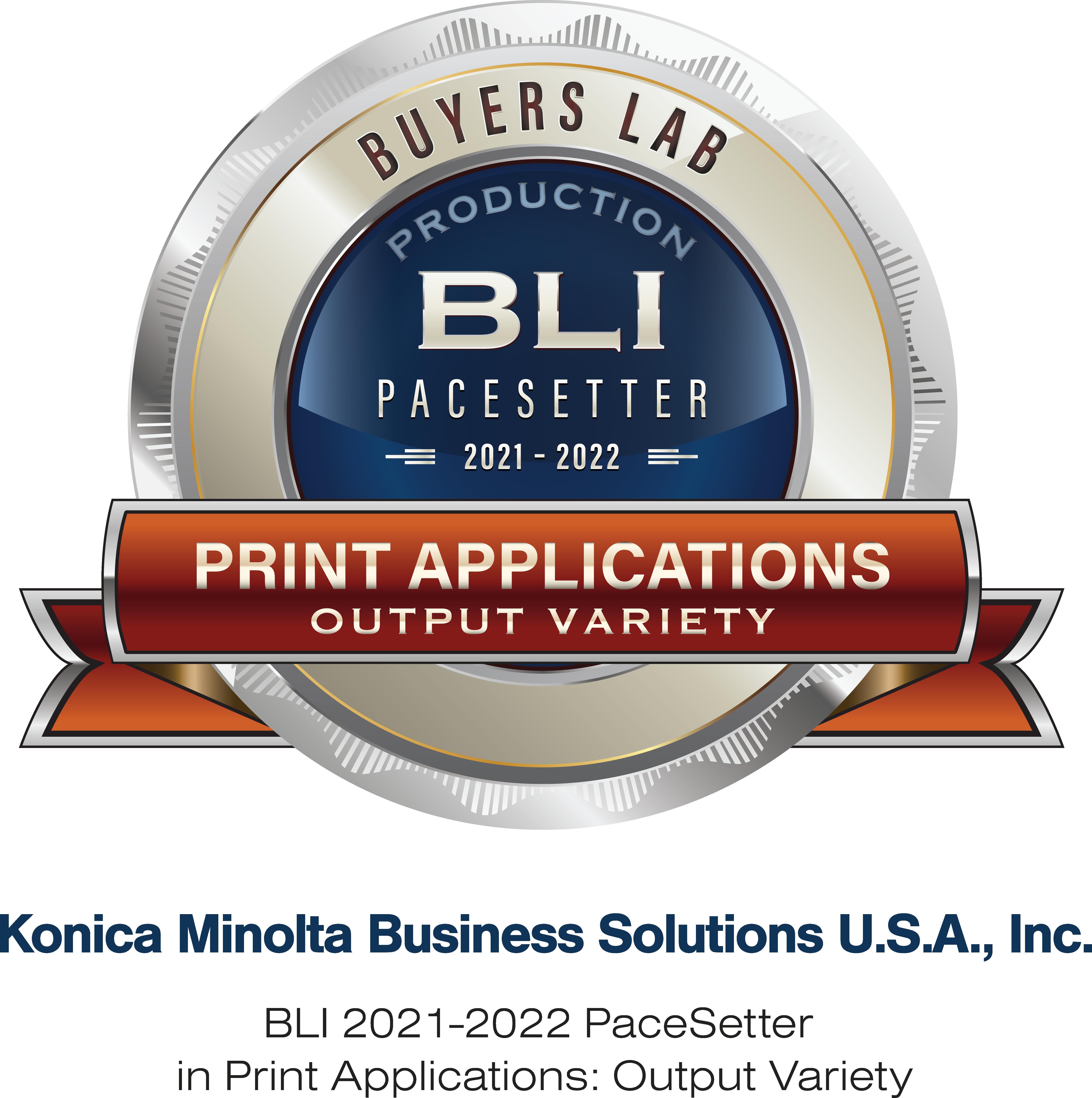 AccurioJet KM-1e premiat cu distincția Buyers Lab (BLI) 2021-2022 PaceSetter