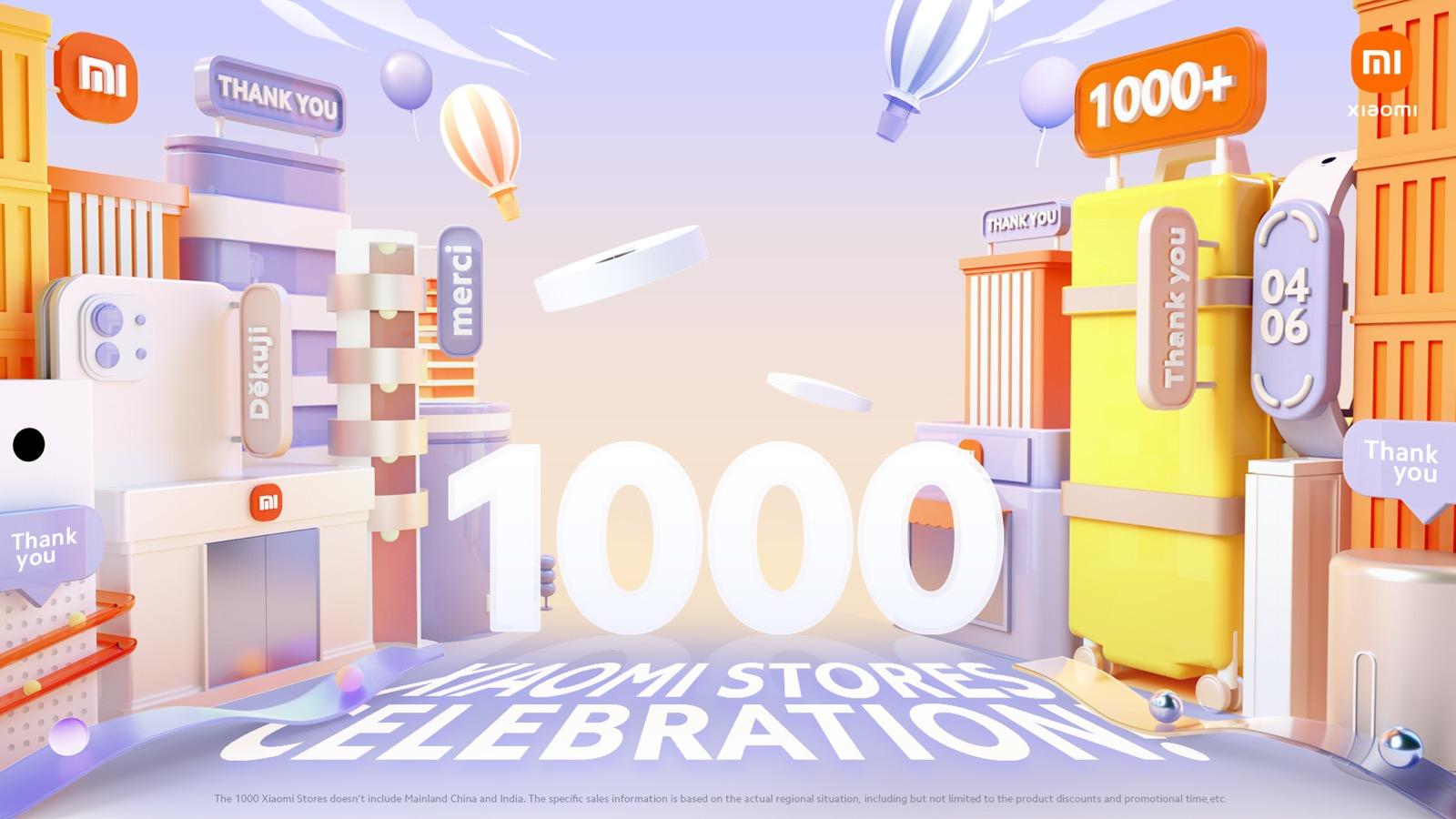 """Xiaomi sărbătorește alături de fanii Mi din întreaga lume evenimentul """"1000 de magazine Xiaomi"""""""