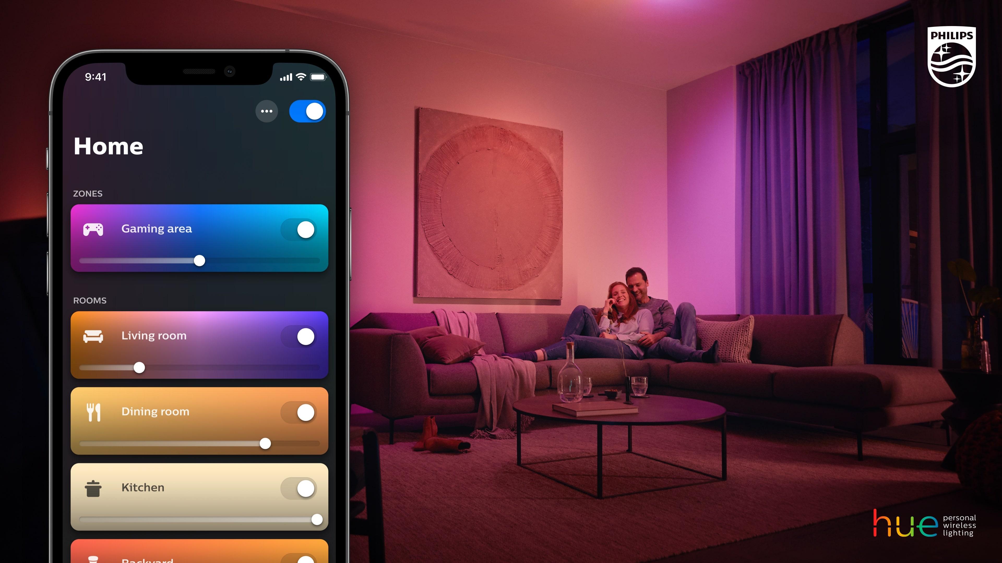 Noua aplicație Philips Hue pregătită pentru viitor