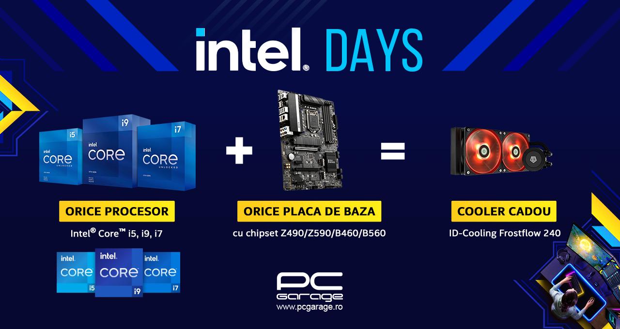 PC Garage oferă un cooler cadou pentru orice combo procesor Intel + placă de bază