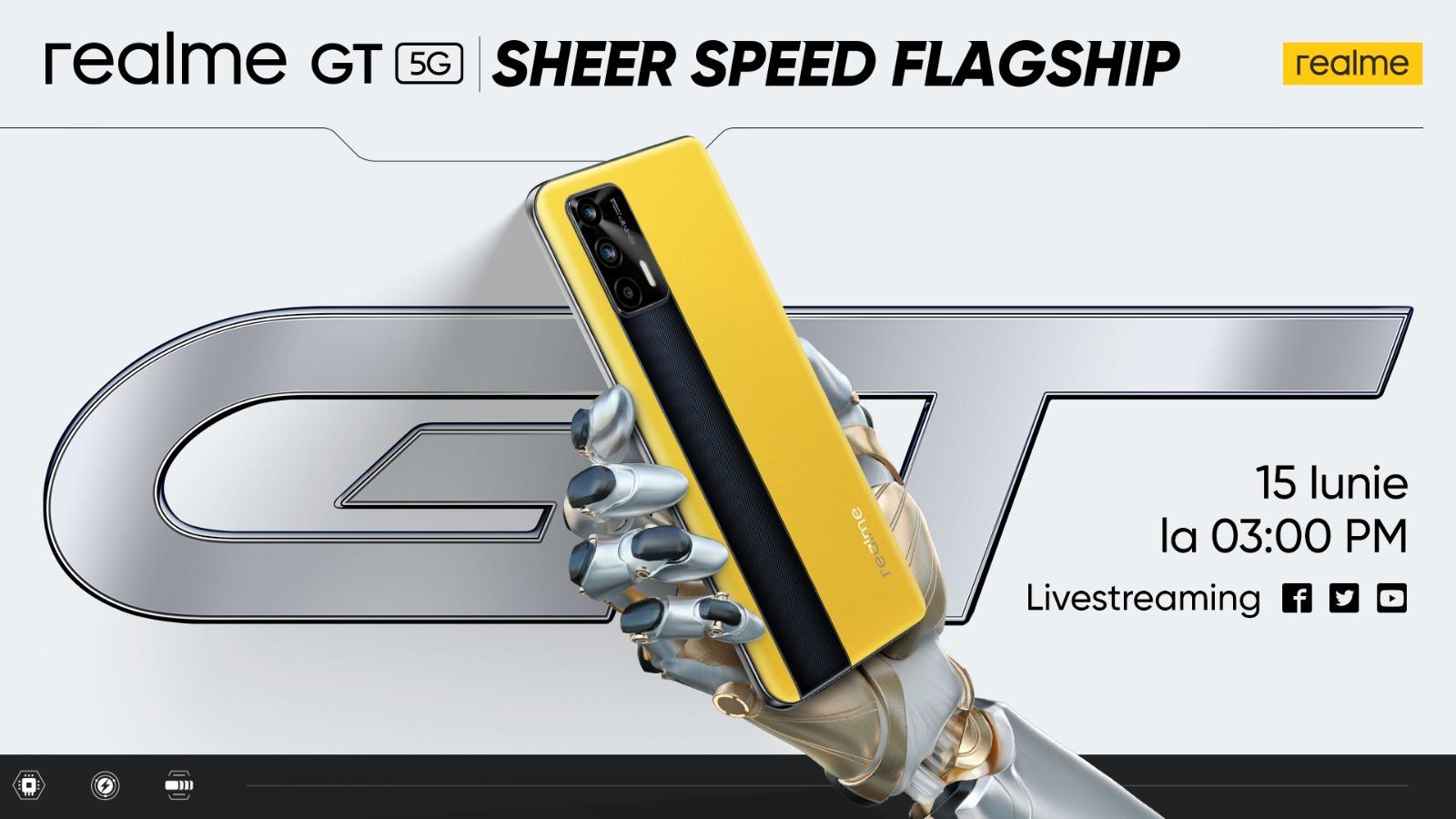 realme anunță lansarea globală pentru realme GT și mai multe produse dintr-o nouă gama AioT