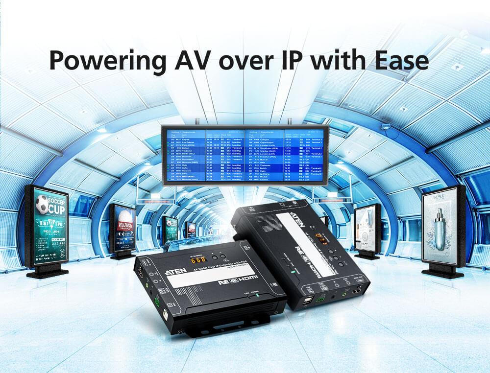 Soluțiile ATEN VE8950 simplifică și eficientizează distribuția de conținut audio/video