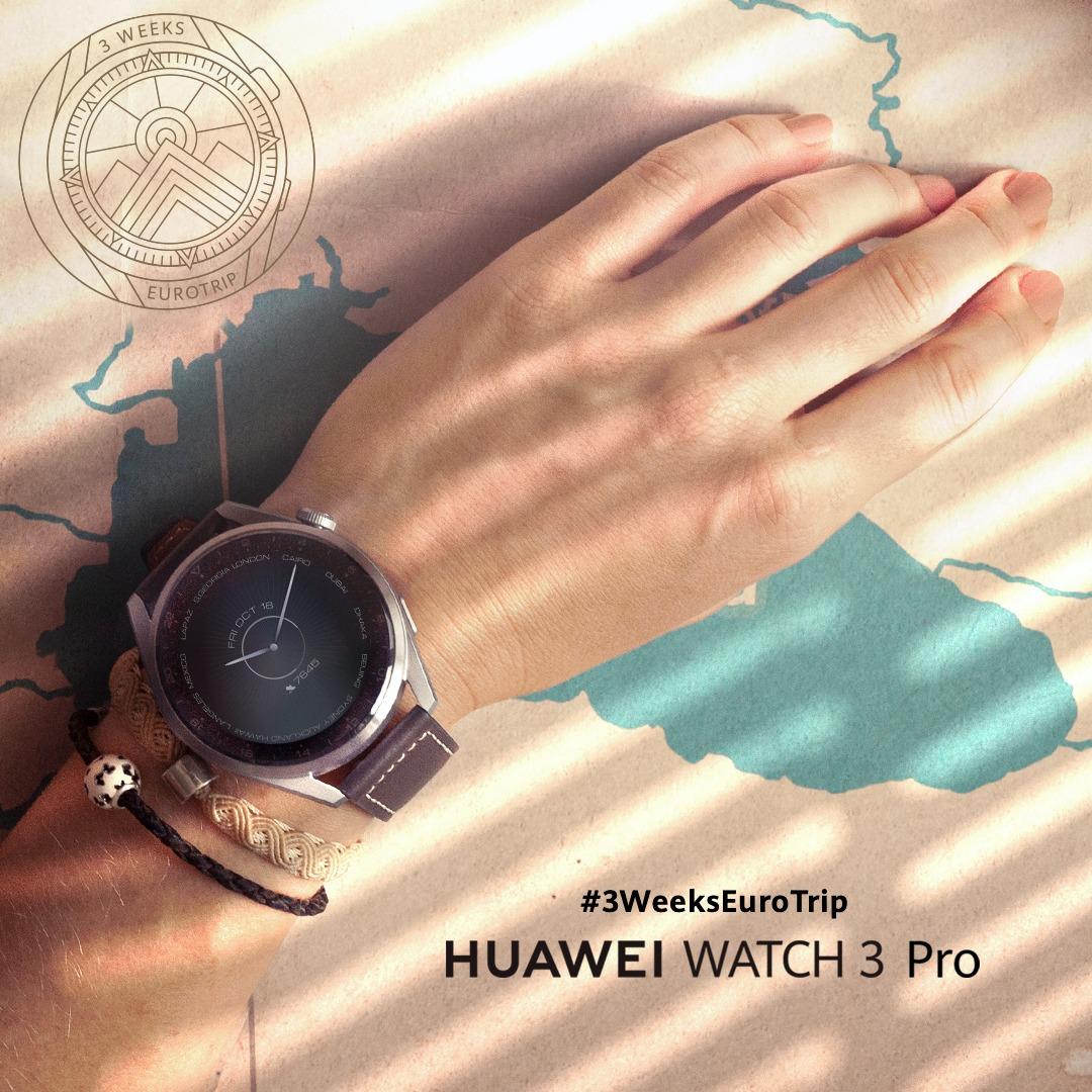 Huawei a lansat călătoria de 21 de zile prin Europa, o provocare estivală de 3 săptămâni realizată cu noul HUAWEI WATCH 3 Pro