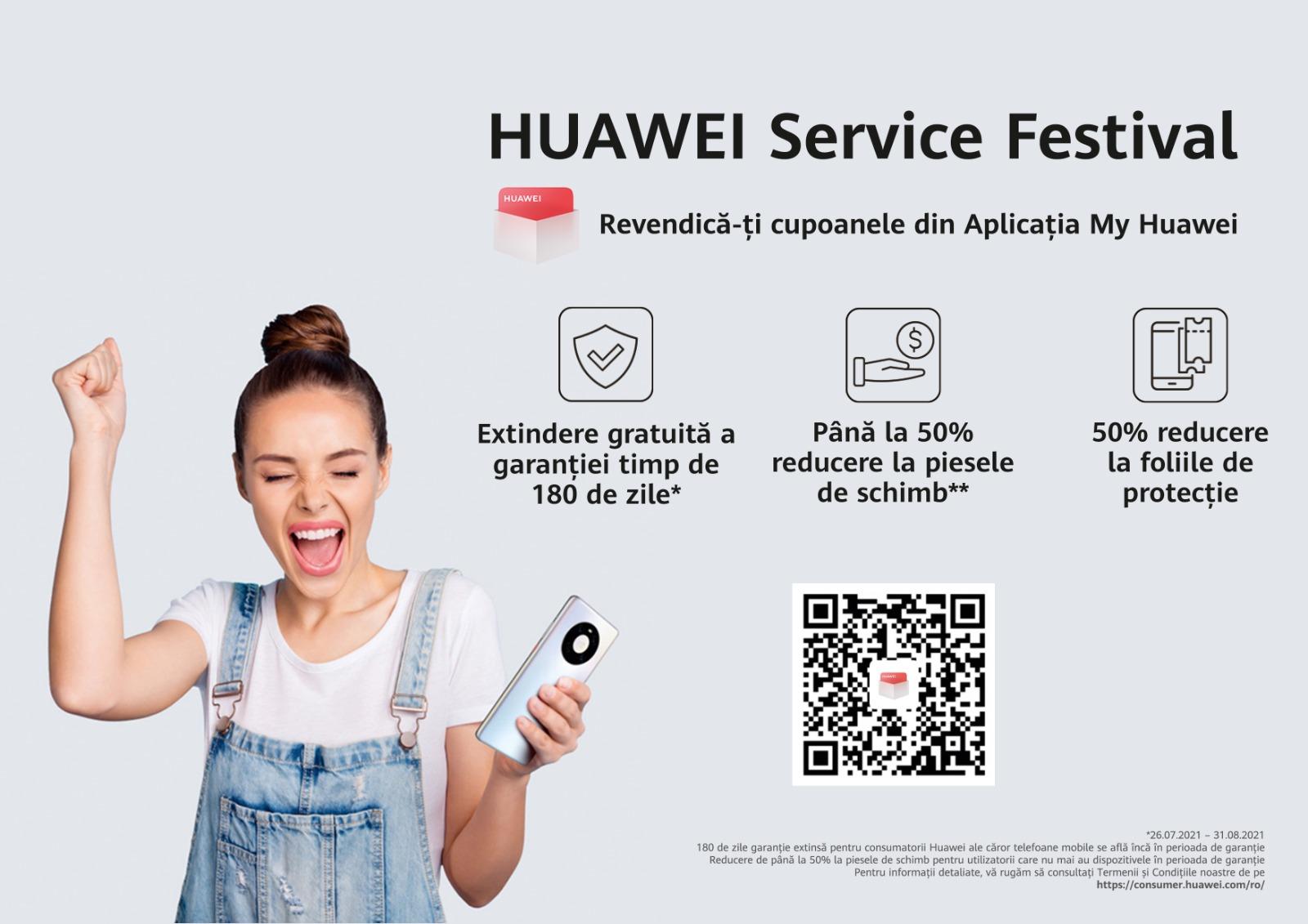 Huawei lansează aplicația MyHuawei și vine cu servicii și reduceri atractive în cadrul Huawei Service Festival