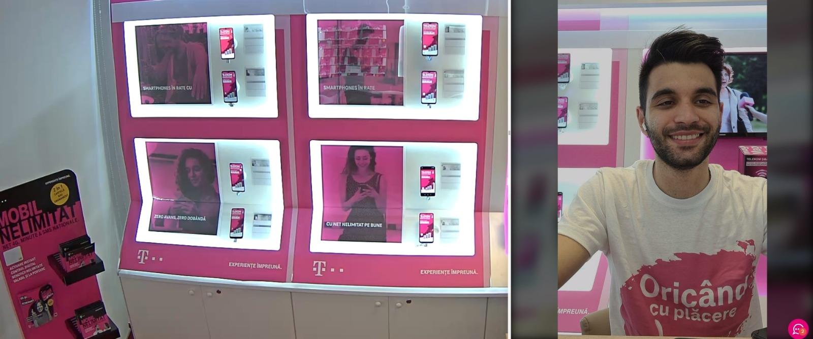 Telekom Romania lansează Live shop, un magazin cu transmisiune live și agent dedicat clienților