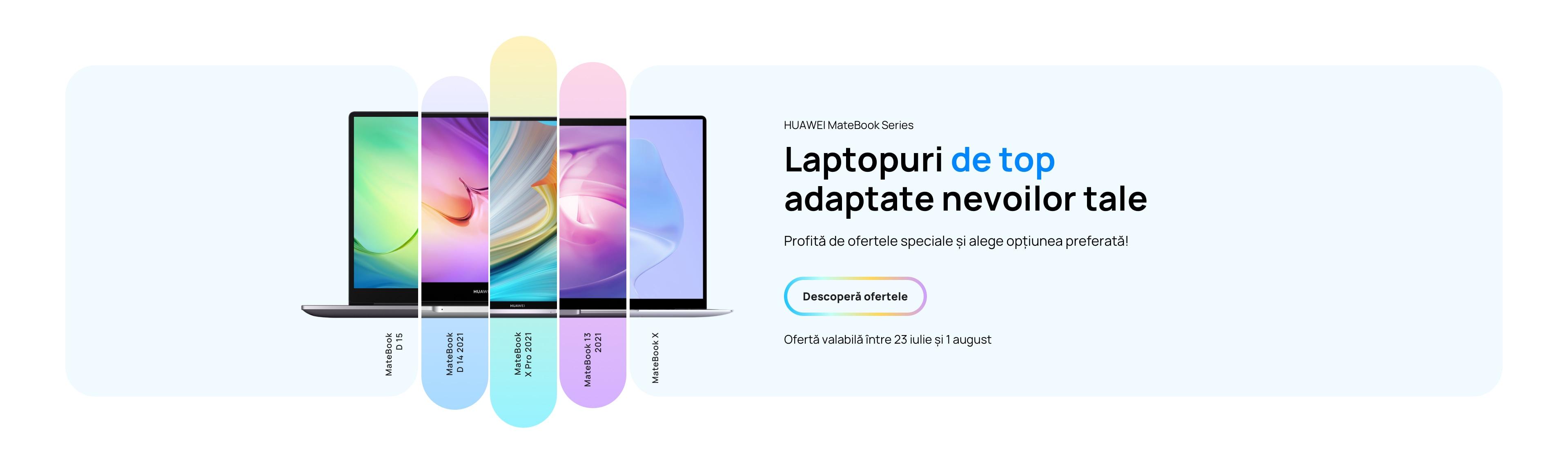 Huawei revine cu un nou val de reduceri pentru laptopurile de top