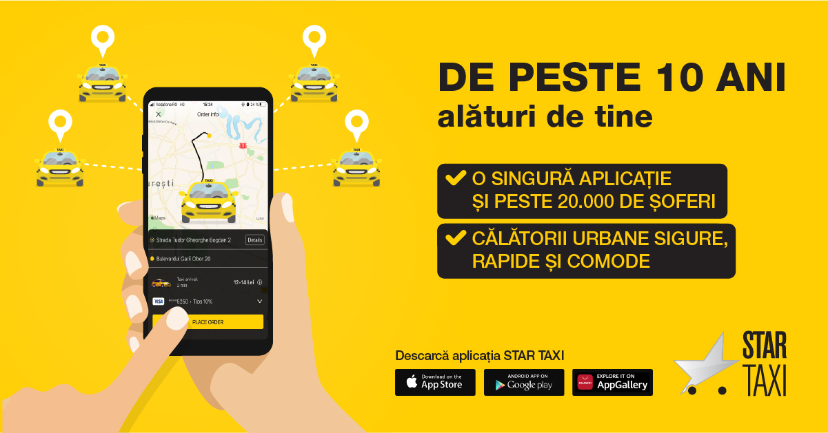 Star Taxi schimbă piața de taximetrie din România