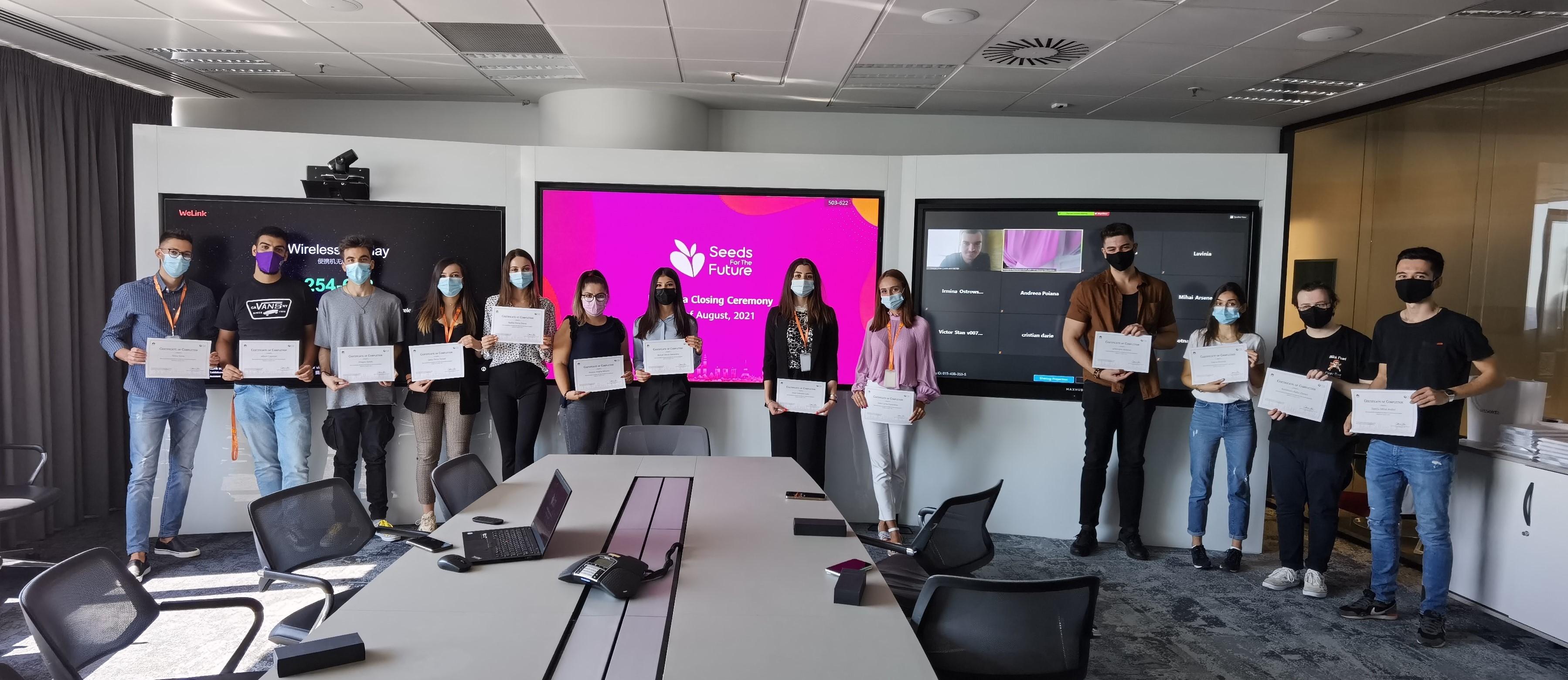 Huawei România a premiat studenții UPB la finalul programului Seeds for the Future București