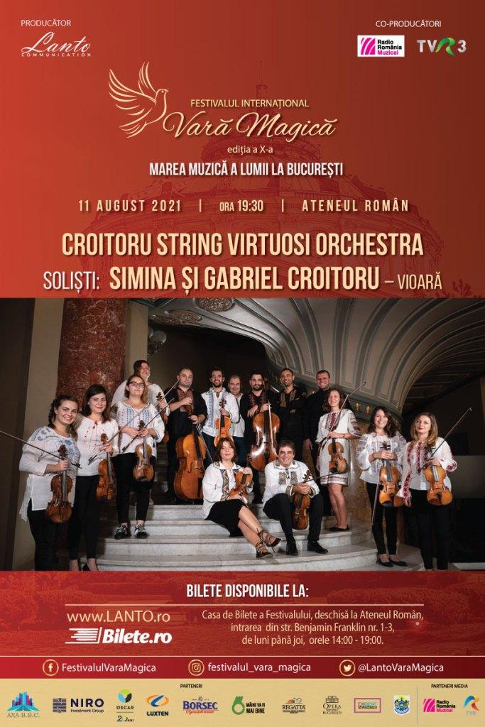 Festivalul Vara Magica continua în vibrații de vioară cu Croitoru String Virtuosi Orchestra