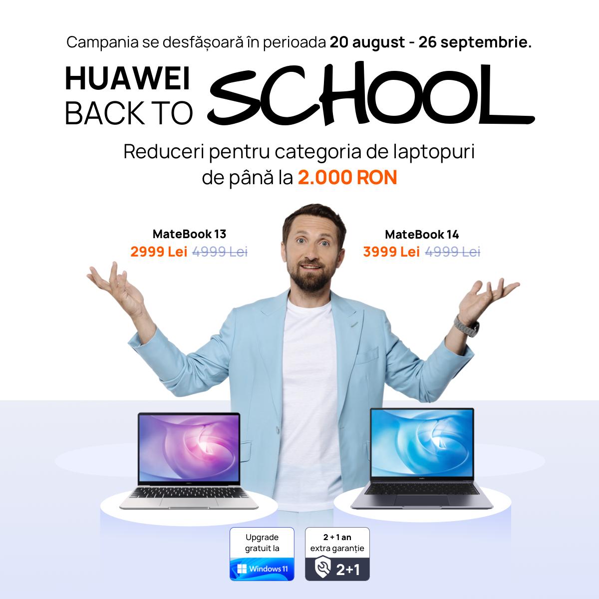 Cât ține bateria unui laptop? Seria HUAWEI MateBook are autonomie sporită, la prețuri avantajoase