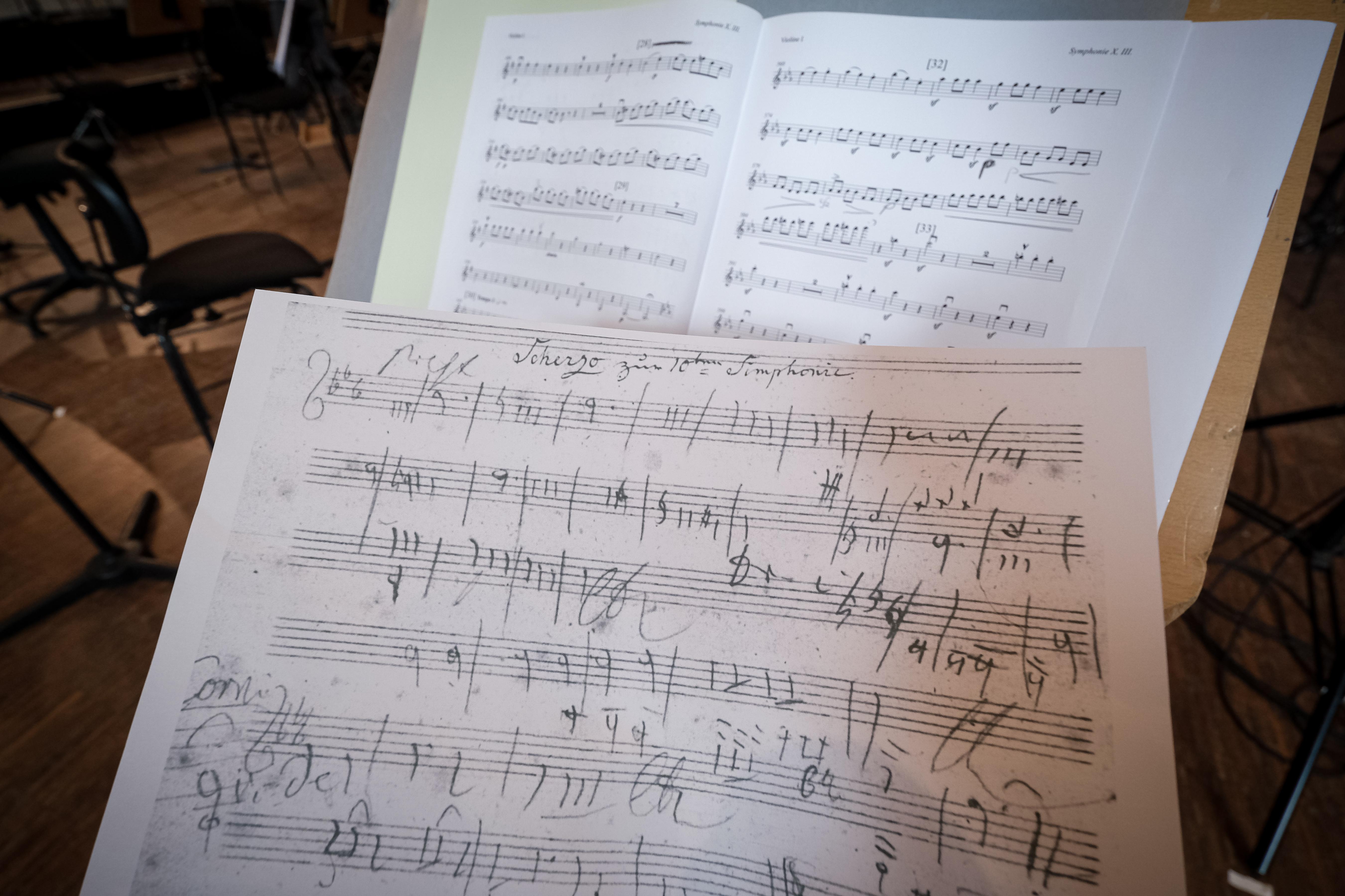 Noten KI_Beethoven Skizze