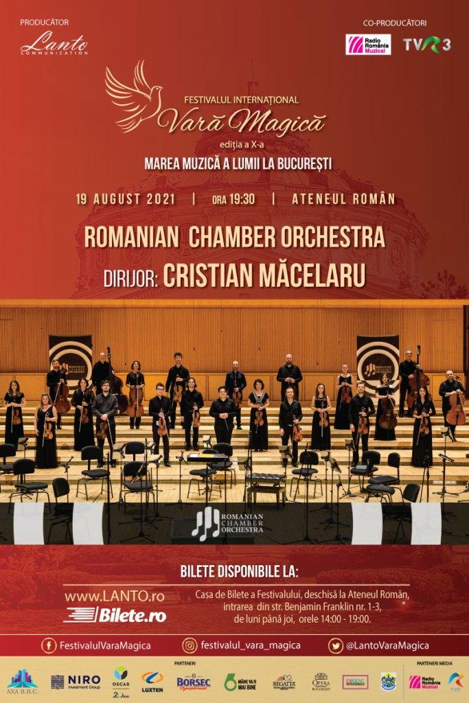 Festivalul Vara Magică 2021 se va încheia cu concertul Romanian Chamber Orchestra