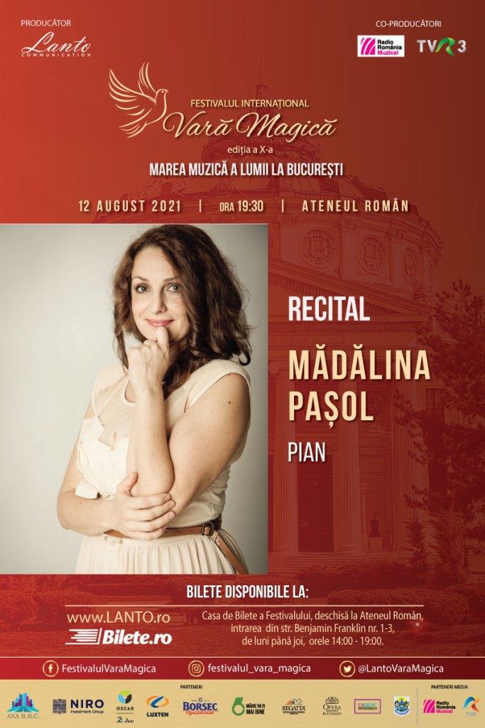 Recital Mădălina Pașol – pe 12 august la Vara Magică 2021
