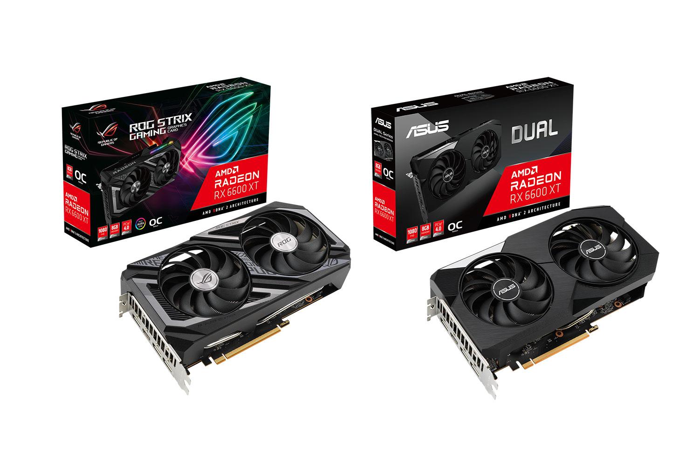 ASUS anunță plăcile grafice AMD Radeon RX 6600 XT