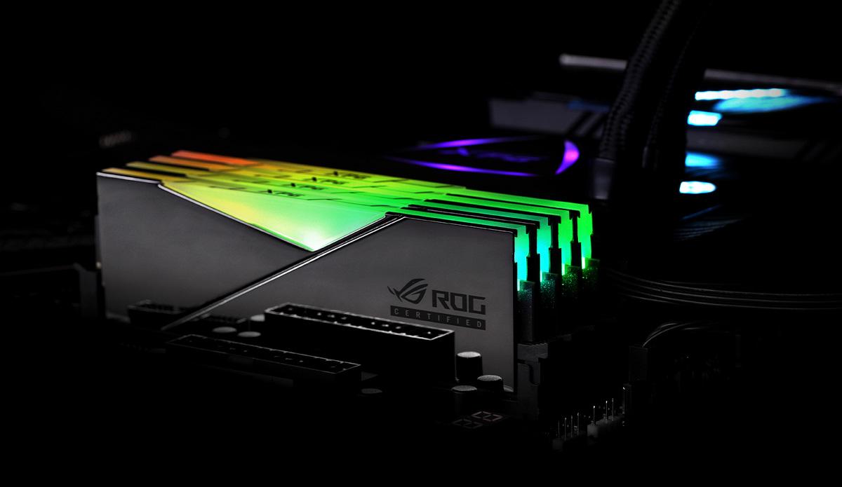 Modulele de memorie DDR4 RGB SPECTRIX D50 cu certificare ROG