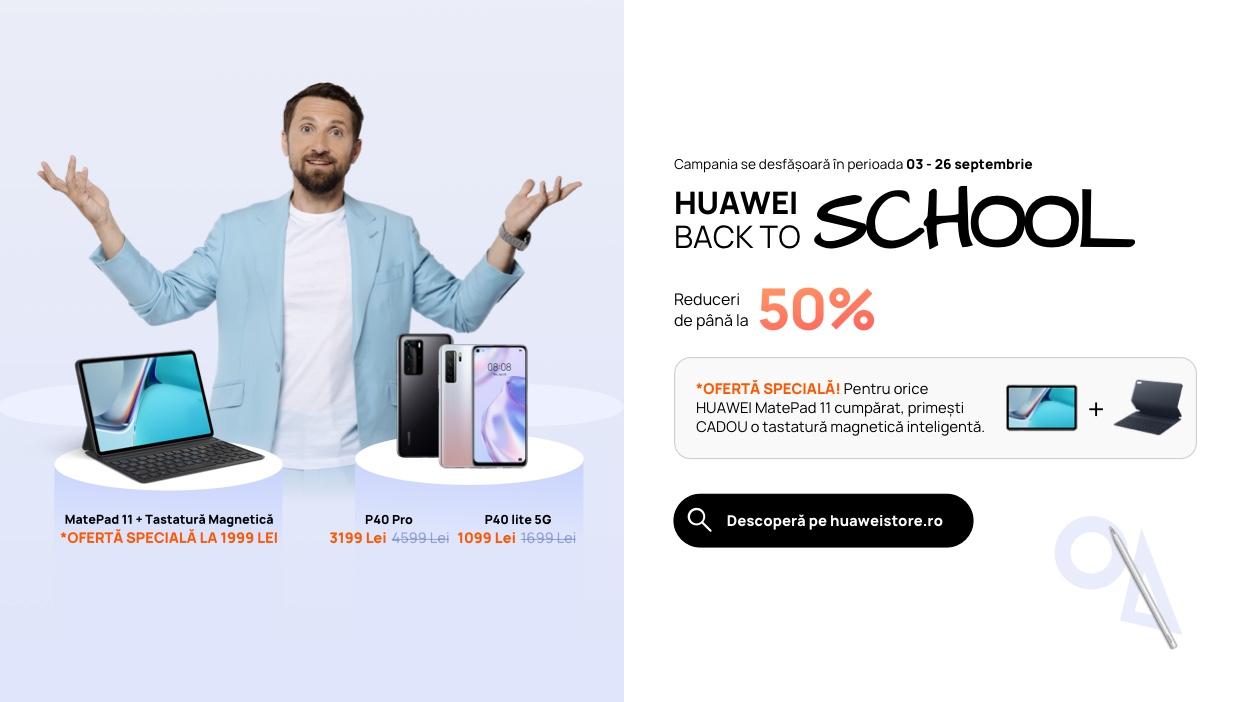 Noi promoții în campania Huawei Back To School pentru smartphone-uri și tablete