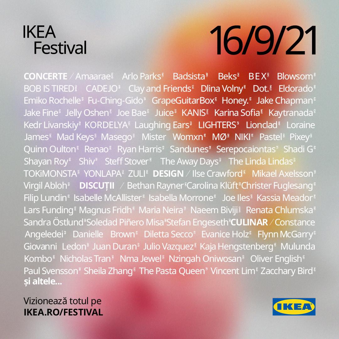 Festivalul IKEA de 24 ore care celebrează universul de acasă începe curând