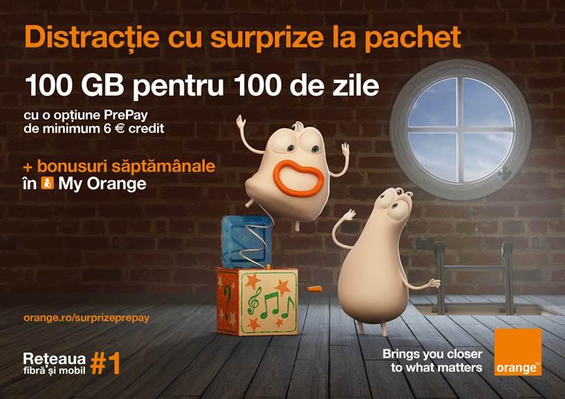 Bonusuri săptămânale surpriză în My Orange pentru clienții PrePay